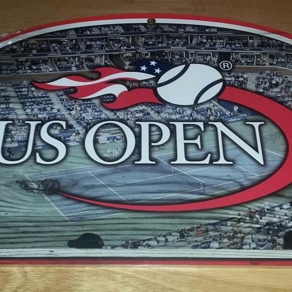 MANCAVE Other - U.S. OPEN TENNIS Open Stadium Wooden Sign 17 X 11